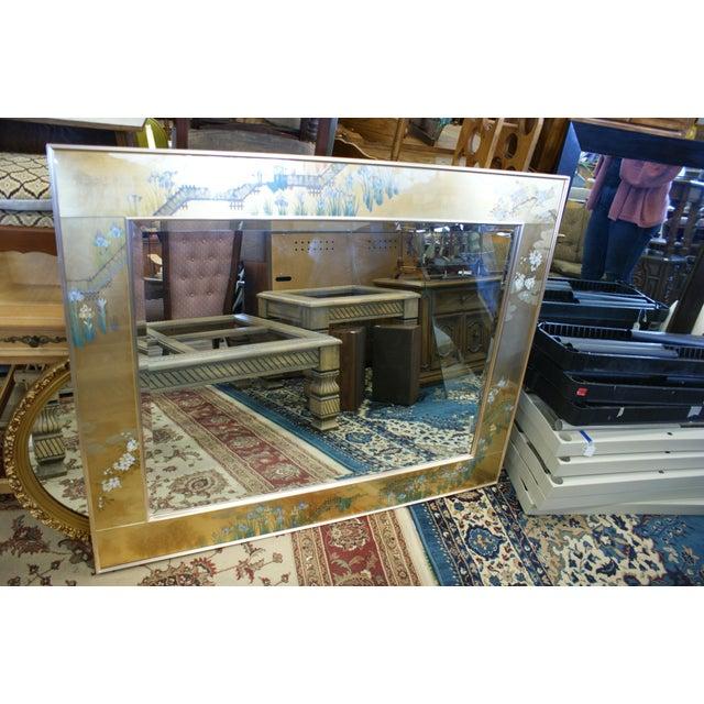 Large La Barge Eglomise Gold Beveled Mirror For Sale - Image 13 of 13
