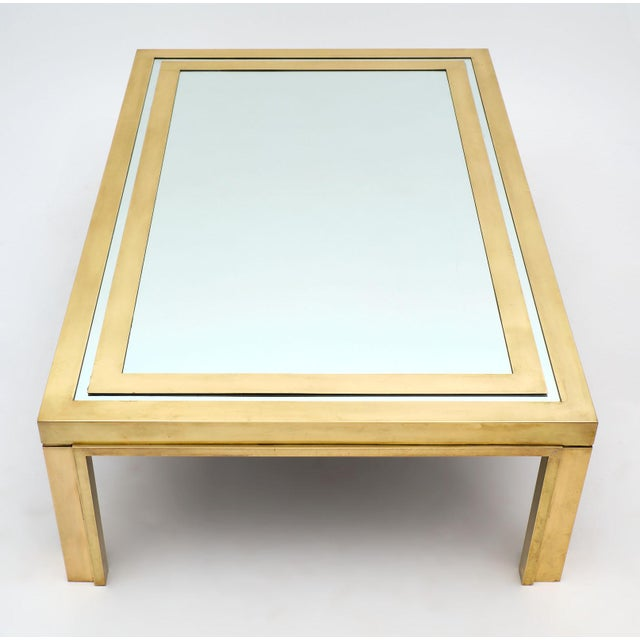 1950s Romeo Rega Brass and Mirror Coffee Table For Sale - Image 5 of 10