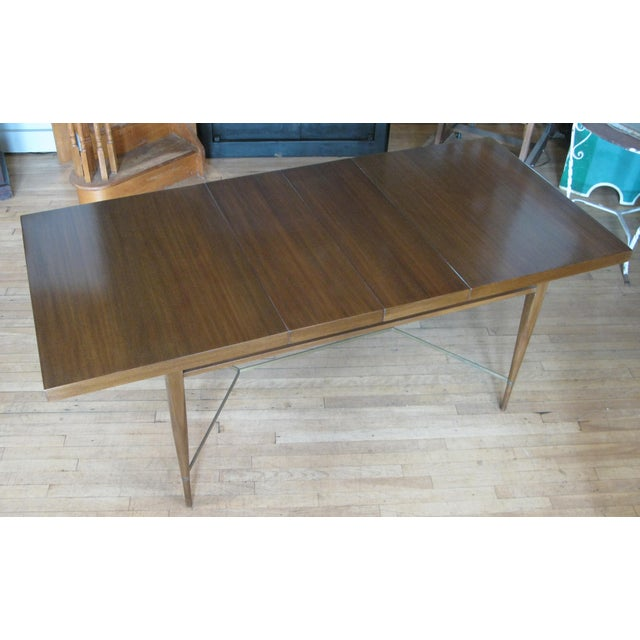 1950s Mahogany & Brass Extension Dining Table by Paul McCobb For Sale - Image 9 of 9