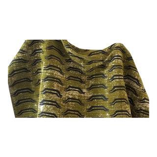 Virginia Kraft Bagha Fabric, 3 Yards in Cypress For Sale