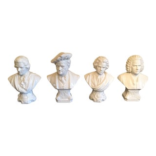 Chelsea House Miniature Porcelain Musician Busts - Set of 4 For Sale
