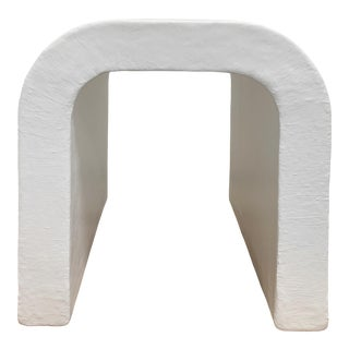 The Phyllis Handmade Raw Plaster Waterfall Accent Table