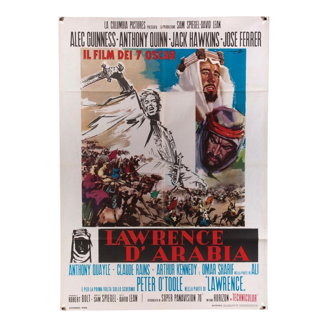 "Vintage Italian film poster for ""Lawrence of Arabia"" For Sale"