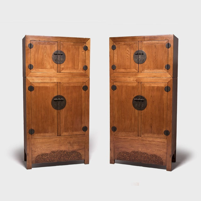 Pair of 19th Century Chinese Double Dragon Compound Cabinets For Sale - Image 12 of 12