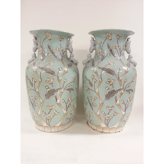 Chinese Vintage Bird & Flower Porcelain Vases - A Pair - Image 2 of 6