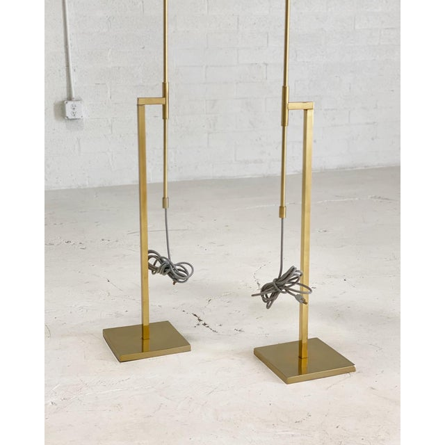 1960s Vintage Laurel Brass Floor Lamps Designed by Harold Weiss and Richard Barr - a Pair For Sale - Image 5 of 6