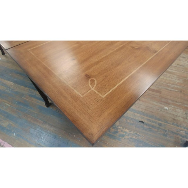 2010s Henredon Furniture Acquisitions European Refectory Walnut Dining Table For Sale - Image 5 of 11