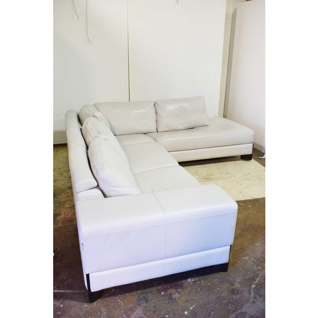 Leather Italian Leather Sectional Sofa For Sale - Image 7 of 9