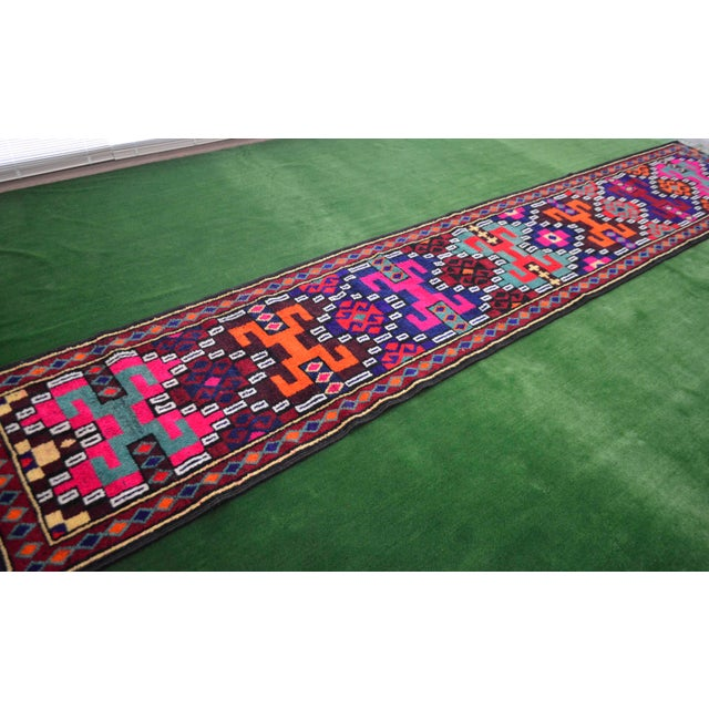 Long Runner Kurdish Hand-Knotted Rug - 2′9″ × 15′5″ - Image 5 of 10