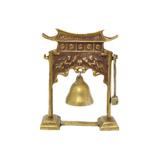 Brass Pagoda Bell For Sale