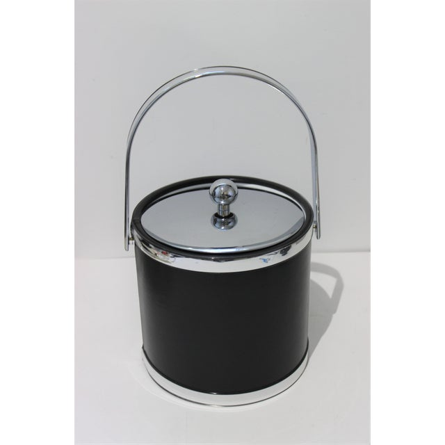Kraftware Vintage Kraftware Ice Bucket in Faux Leather For Sale - Image 4 of 13