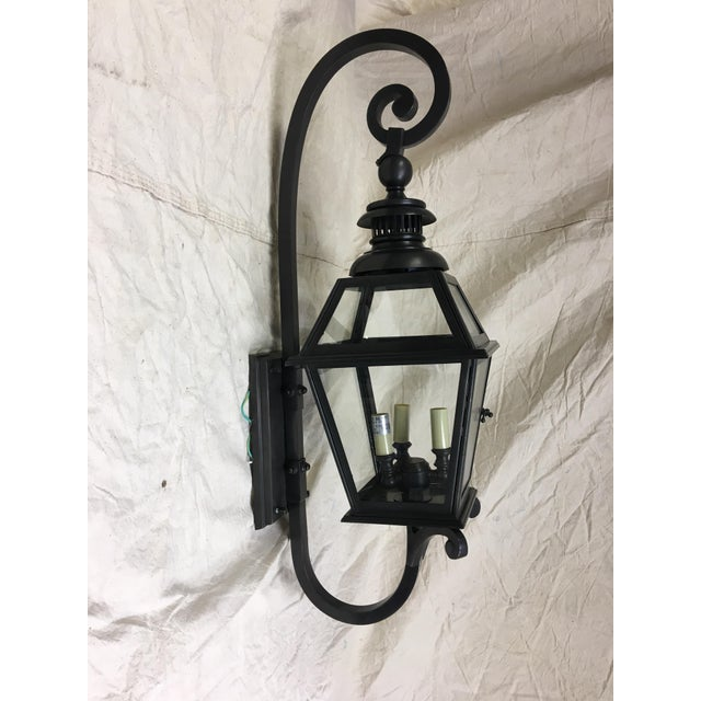 Chelsea Lantern by E. F. Chapman for Visual Comfort CHO 2113BZ. This exterior wall mount lantern measures 31 inches high...