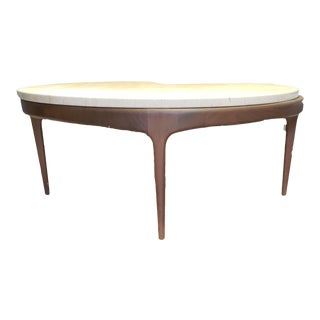 Mid- Century Danish Marble Top Table Set For Sale