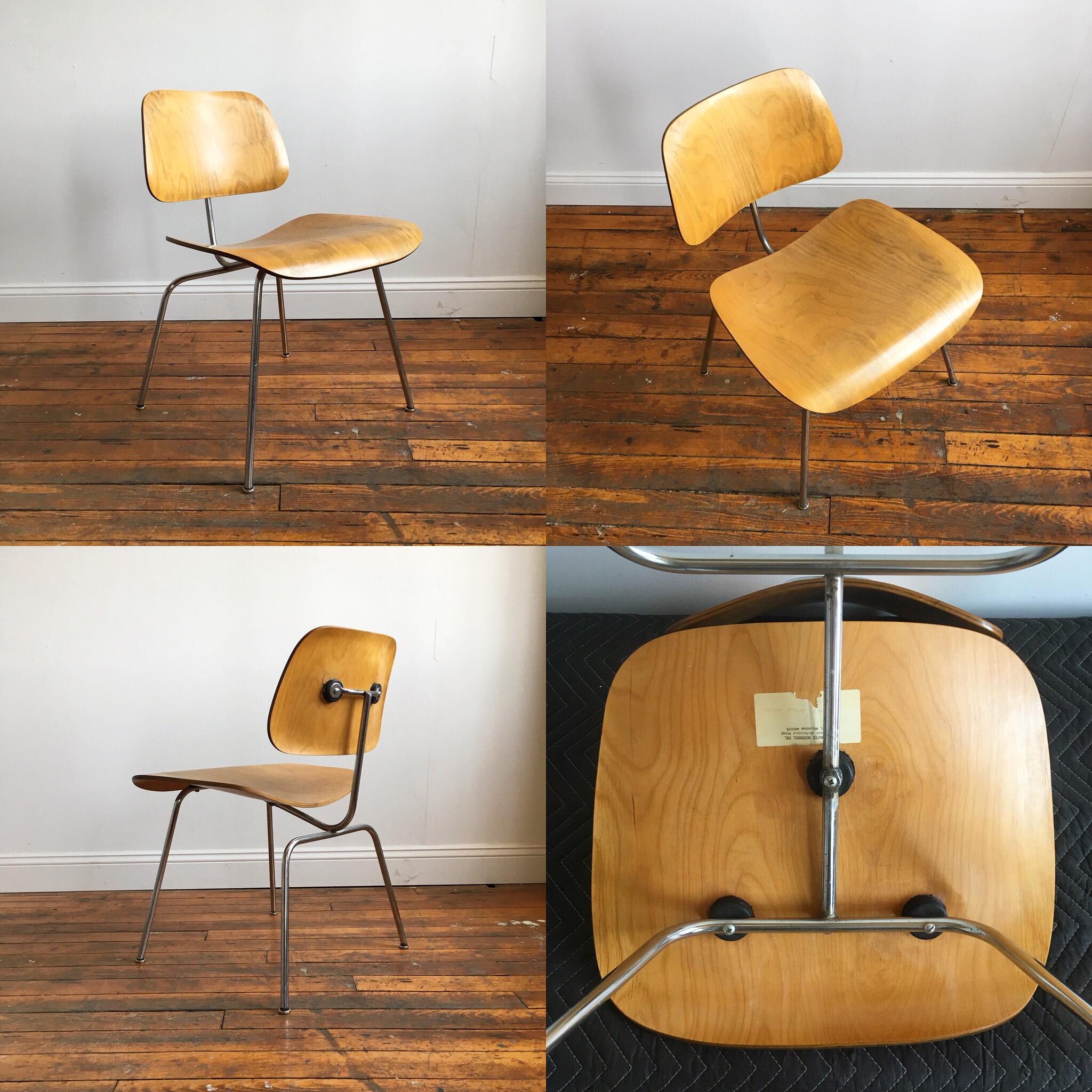Vintage Herman Miller Eames Molded Plywood Chairs   Set Of 4   Image 5 Of 11