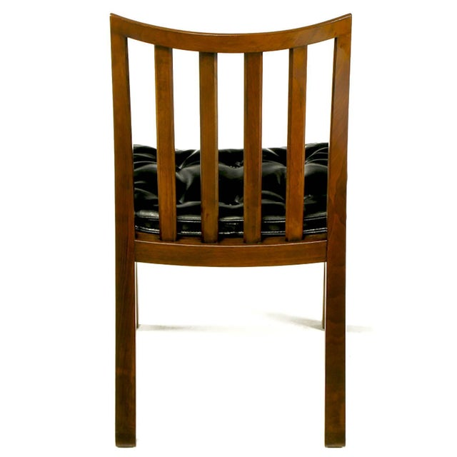 Wood Six Bert England Forward Trend Walnut and Leather Dining Chairs For Sale - Image 7 of 11