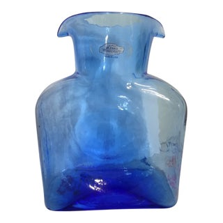 Blenko Hand Made Glass Water Pitcher For Sale