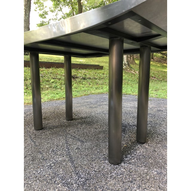 Stanley Friedman Stainless Steel Dining Table for Brueton For Sale In New York - Image 6 of 13