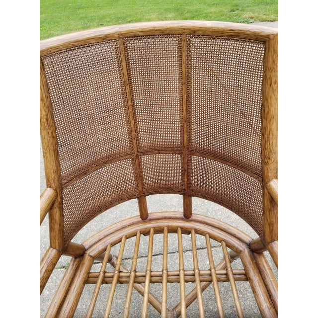McGuire Rattan Cane Lounge Arm Chairs - a Pair - Image 7 of 8