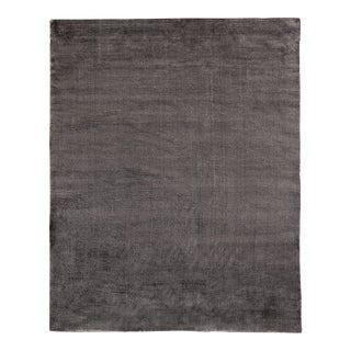 Exquisite Rugs Milton Hand Loom Viscose Dark Gray - 8'x10' For Sale