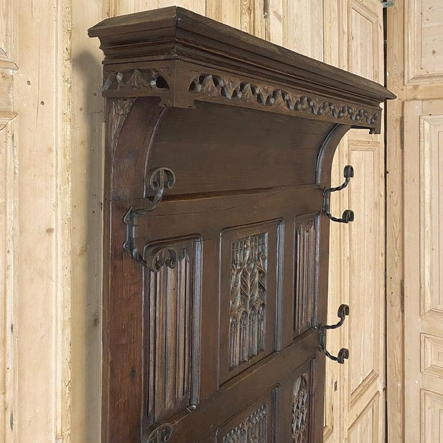 Early 19th Century French Gothic Revival Hall Tree Dated 1829 For Sale - Image 5 of 13