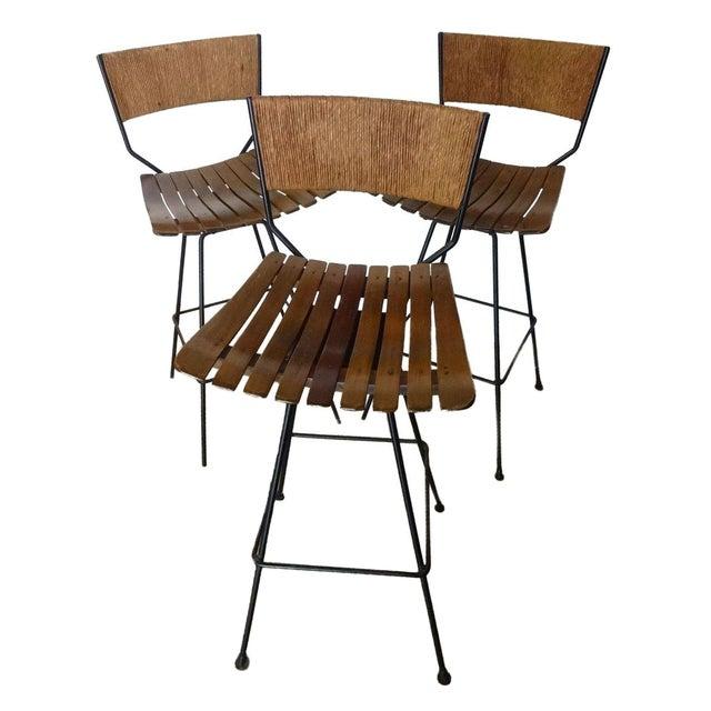 Arthur Umanoff Mid-Century Bar Stools - Set of 3 - Image 1 of 10