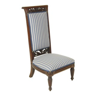 18th Century Antique French Louis XVI Slipper Chair For Sale