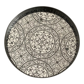 Handmade Notre Monde Artisan Moroccan Mirror Tray by Dawn Sweitzer For Sale
