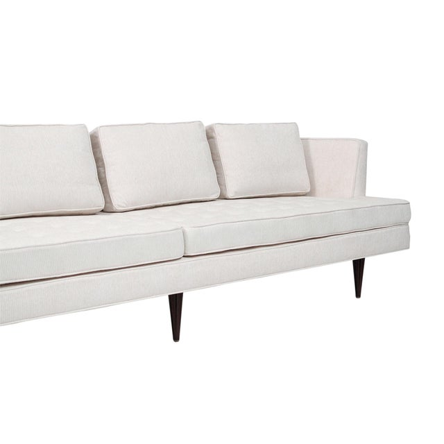 White Large Edward Wormley for Dunbar Upholstered Sofa For Sale - Image 8 of 13