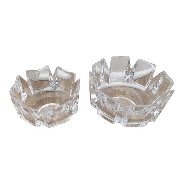 "Orrefors ""Corona"" Crystal Bowls - A Pair - Image 1 of 10"