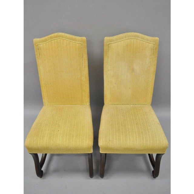 Early 20th Century Walnut Os De Mouton Louis XIV French Style Upholstered Dining Chairs- Set of 10 For Sale - Image 9 of 12