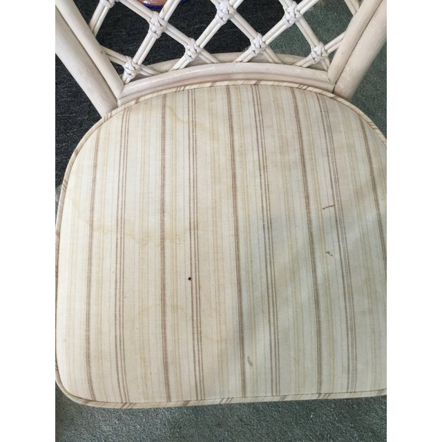 Vintage Bamboo Round Dining Table and Four Chairs For Sale - Image 10 of 11