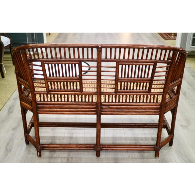 Vintage Bamboo & Cane Settee - Image 4 of 5