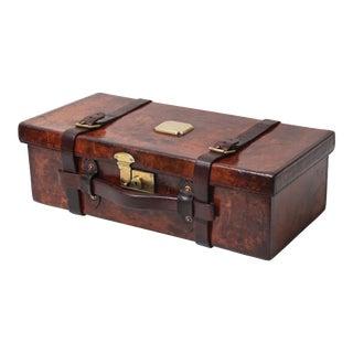 Antique Leather Shotgun Cartridge Case, English