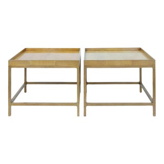 1960s Mid Century Baker Furniture Wood Side Tables - a Pair For Sale