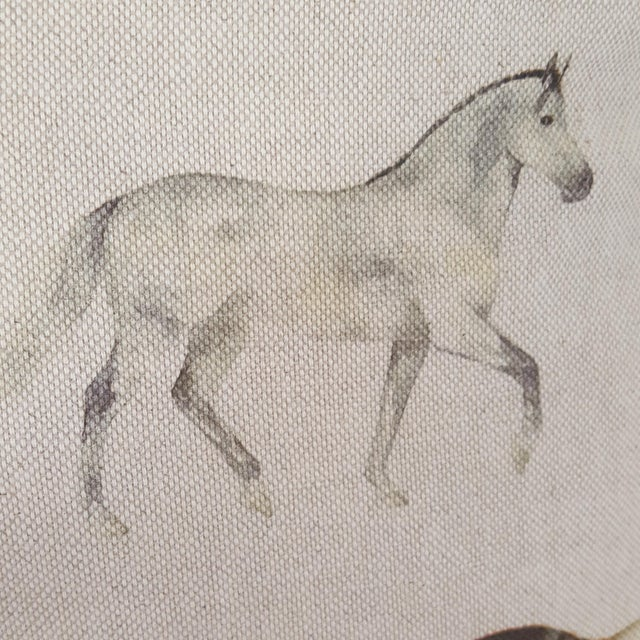 Brown Horses Accent Pillow For Sale - Image 8 of 13