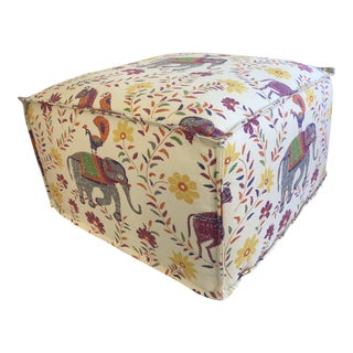 Moroccan Print Pouf For Sale