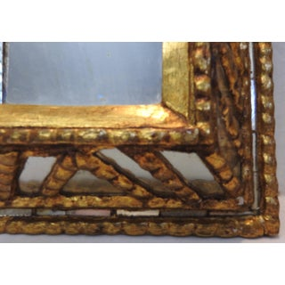 Small Midcentury Italian Mirror With Gilt Preview