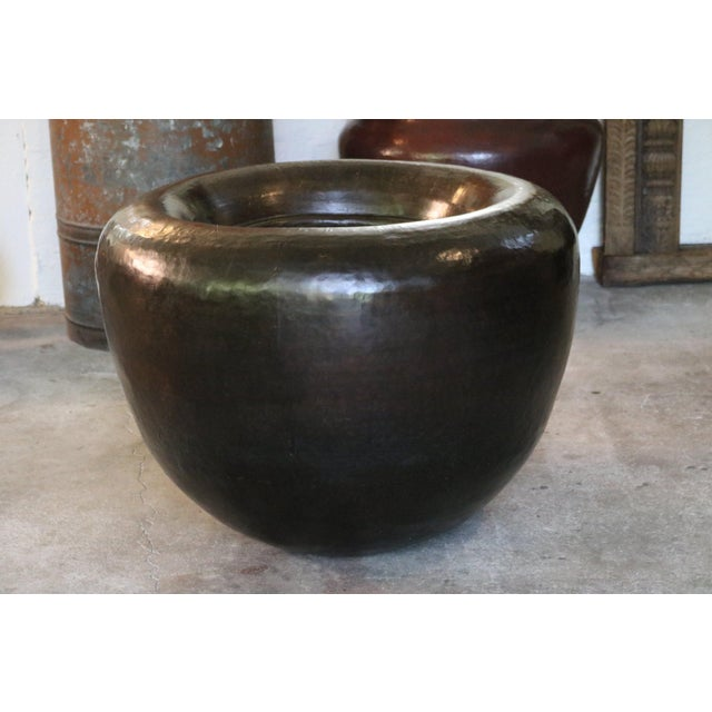 1900 - 1909 Brass Water Pot For Sale - Image 5 of 5