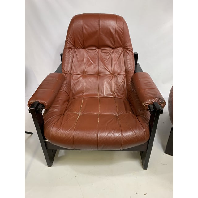 Percival Lafer Brazilian Rosewood Lounge Chair & Footstool For Sale - Image 9 of 13