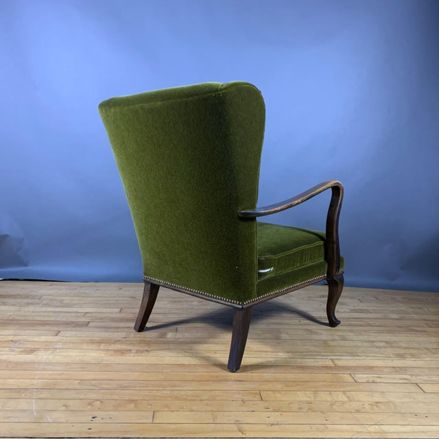 1950s Walter Knoll Mini Wingchair, Mohair, Germany For Sale - Image 9 of 12