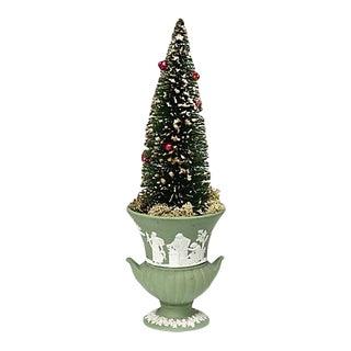 Vintage Mid-Century Bottle Brush Tree W/ Wedgwood Pot For Sale