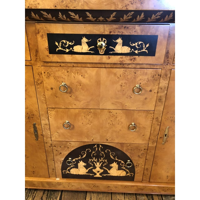 Biedermeier Style Empire Sideboard Credenza Cabinet by Francesco Molon For Sale - Image 10 of 12
