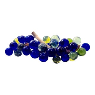 Vintage Large Blue Lucite Grape Cluster For Sale