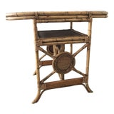 Image of Boho Chic Bamboo Rattan Side Table For Sale