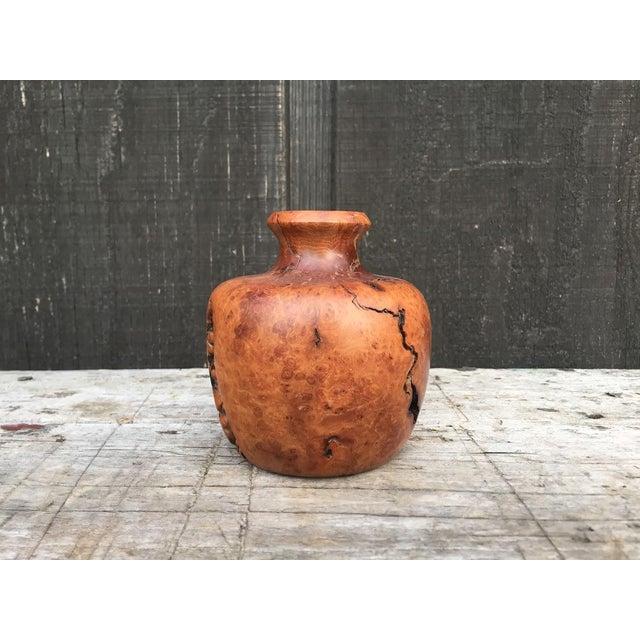 Wood Burl Bud Vase For Sale - Image 4 of 10