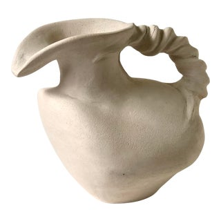 Vintage Plaster Vessel in the Grecian Askos Form For Sale