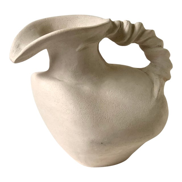 Vintage Plaster Vessel in the Grecian Askos Form For Sale