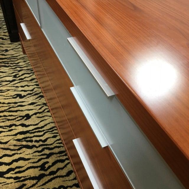 Cherry Wood Scandinavian Design Sharon Plus Glass Dresser For Sale - Image 7 of 9
