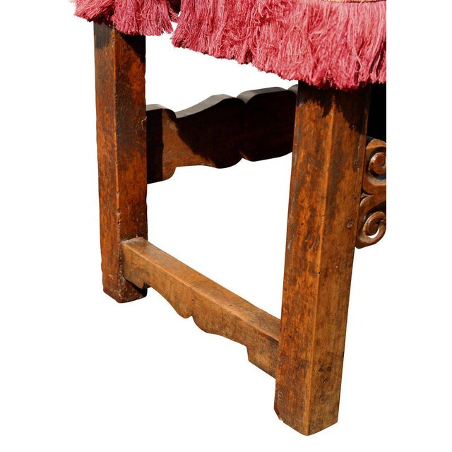 Textile Assembled Set of Six Italian Baroque Walnut Dining Chairs For Sale - Image 7 of 12