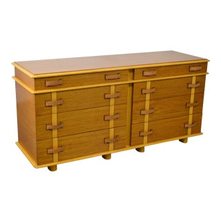 "Paul Frankl for Johnson Furniture ""Station Wagon"" Dresser 8 Drawer Chest For Sale"